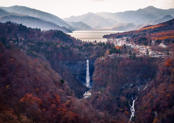 A view of the Kegon Falls from the observation deck of the Akechidaira Ropeway at Nikko, Tochigi Prefecture, Japan on October 30, 2015. (Reginald Pentinio/Flickr)