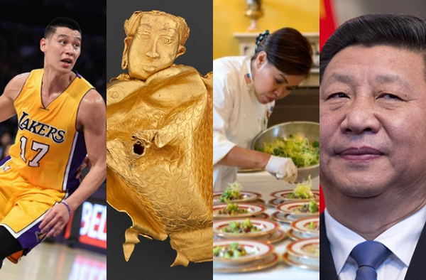 (L to R) Jeremy Lin, Philippine Gold, Cris Comerford, and Xi Jinping were some of Asia Blog's most read stories in 2015. (Mark Ralston/AFP/Getty, Ayala Museum, Sonya, N. Herbert/White House, Johannes Eisele/AFP/Getty)