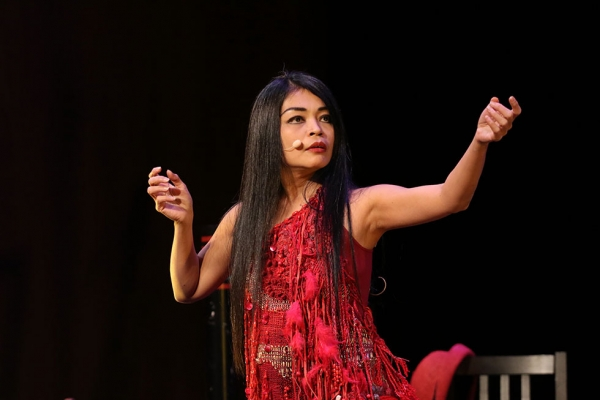 "Renowned vocalist Grace Nono performed sacred songs of indigenous people from southern areas of the Philippines in ""Voicing the Ancestral Sacred"" at Asia Society in New York on October 30. (Ellen Wallop/Asia Society)"
