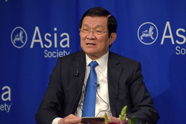 The president of Vietnam, Truong Tan Sang, joined Asia Society on September 25 to discuss the 20th anniversary of normalized relations between the U.S. and Vietnam in addition to other regional issues. (Elsa Ruiz/Asia Society)