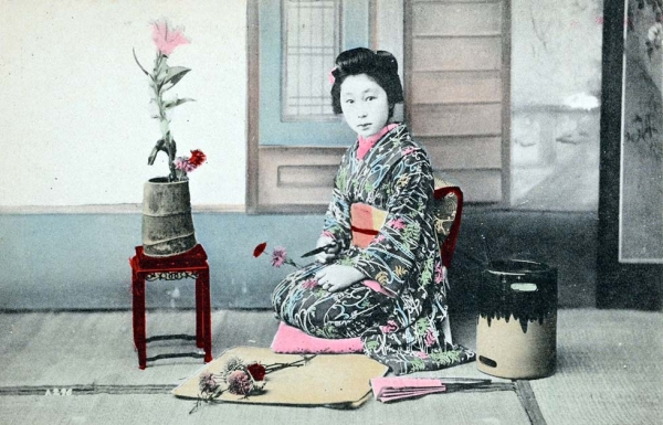 """Portrait of Japanese young woman, possibly maiko."" 1907-1919. (New York Public Library."
