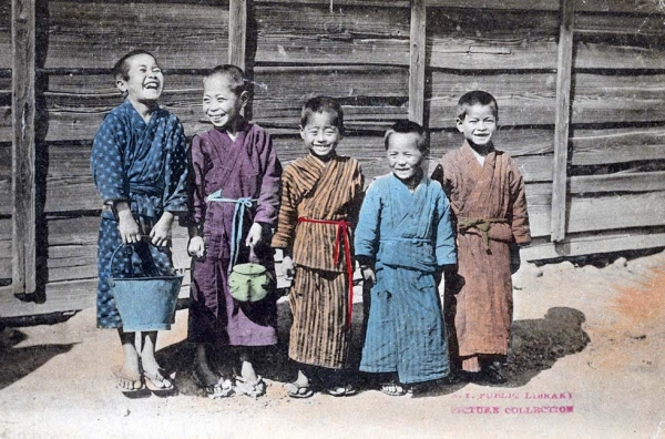"""Japanese boys in (Kodomo) country."" 1913. (Ueda/New York Public Library)"