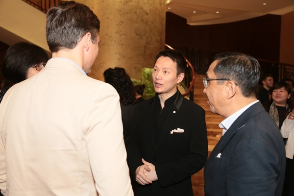 From left to right: guest, Archie Drury, choreographer Shen Wei, and Silas Chou.