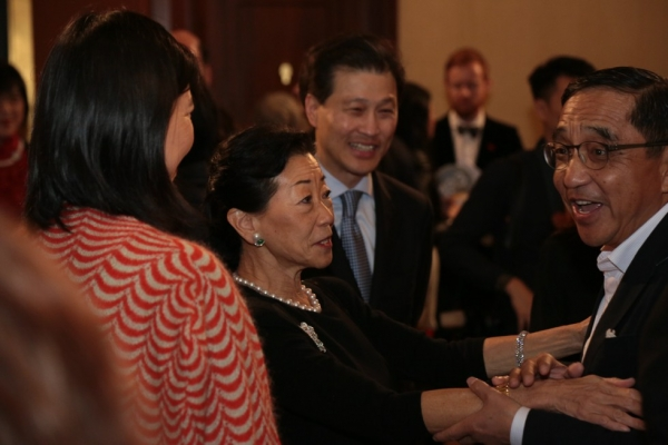 From left to right: Hong Hong Wu; Lulu C. Wang, Vice Chair of the Board, Asia Society; Dominic Ng; and Silas Chou.