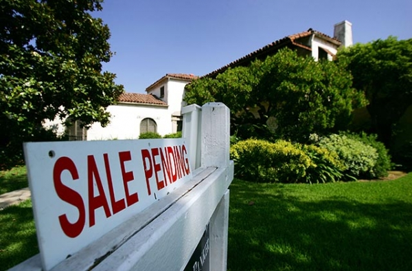 A sold home in Pasadena, California. (David McNew/Getty Images)