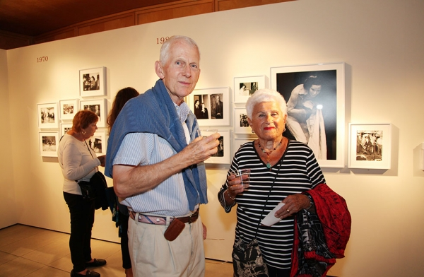 Members explore Asia Society's other exhibitions in New York on September 12, 2016. (Ellen Wallop/Asia Society)