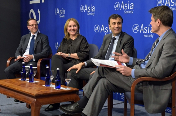Evan Medeiros, Josette Sheeran, Ruchir Sharma, and Tom Nagorski predict what will happen in Asia in 2017. (Elsa Ruiz/Asia Society)