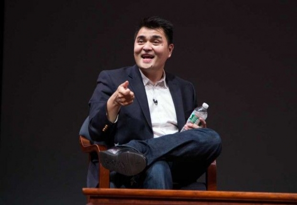 "Immigration reform activist Jose Antonio Vargas appeared onstage at Asia Society New York following a screening of his film ""Documented"" on May 1, 2014. (Anna Webber/Getty Images for Define American)"
