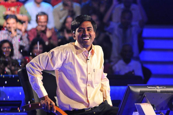 Sushil Kumar, 27, reacts as he wins the one million USD prize of the Indian 'Who Wants to be a Millionaire?' TV quiz in Mumbai on Oct. 25, 2011. (STRDEL/AFP/Getty Images)