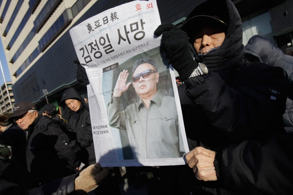 South Korean protesters participate in a rally celebrating news of the death of North Korean leader Kim Jong Il on December 19, 2011 in Seoul, South Korea. (Chung Sung-Jun/Getty Images)