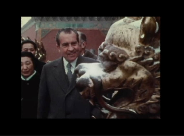 Archival footage of U.S. President Richard Nixon in China in 1972, from Mike Chinoy's documentary 'Assignment: China—The Week That Changed The World.'