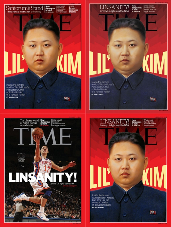 February 27, 2012 edition covers of TIME magazine from (clockwise from top left) the United States, Europe, South Pacific and Asia.