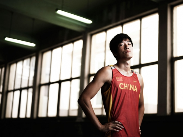 Chinese Olympic gold medalist Liu Xiang poses for a portrait shoot at the National Sports Training Centre on July 1, 2007 in Beijing, China. (Adam Pretty/Getty Images)
