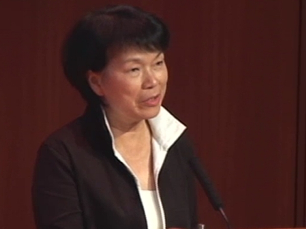Writer and public intellectual Lung Yingtai, Taiwan's first-ever Minister of Culture, at Asia Society New York on August 22, 2012.