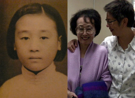 L: Author Hualing Nieh as a young girl in mainland China. R: Hualing (R) with Hong Kong documentary filmmaker Angie Chen (R), director of 'One Tree Three Lives,' about Hualing's life and career.