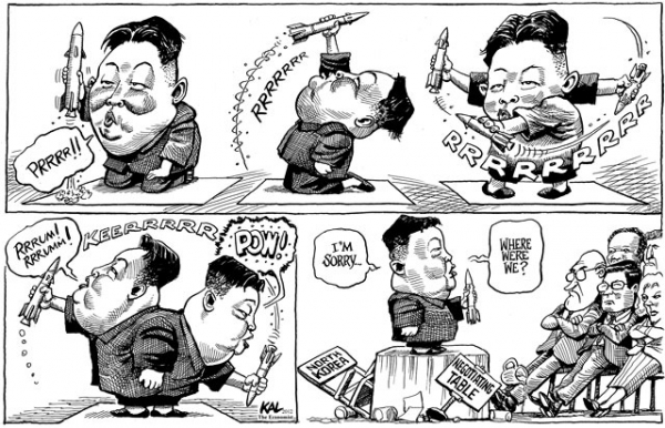 Rocket man: North Korea's Kim Jong Un gets the KAL treatment earlier in 2012. (The Economist)
