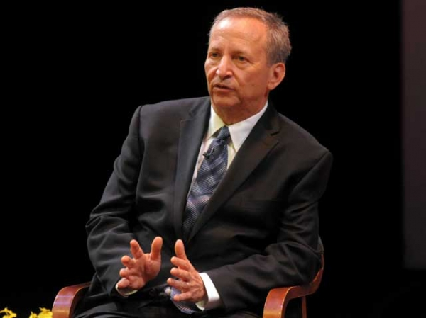 Lawrence H. Summers onstage at Asia Society New York on December 5, 2012. (Elsa Ruiz/Asia Society)