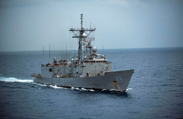 The USS Vandegrift cruises the South China Sea on Oct. 15, 2012. (U.S. Navy/Flickr)