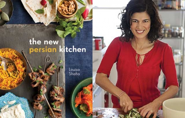 """The New Persian Kitchen"" (Ten Speed Press, 2013) by Louisa Shafia (L). (lucidfood.com/Stephen Scott Gross)"