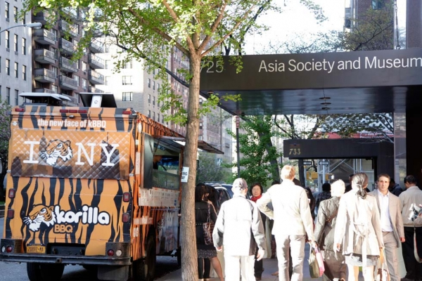The Korilla BBQ truck parked in front of Asia Society to serve food for the celebration. (Tahiat Mahboob/Asia Society)
