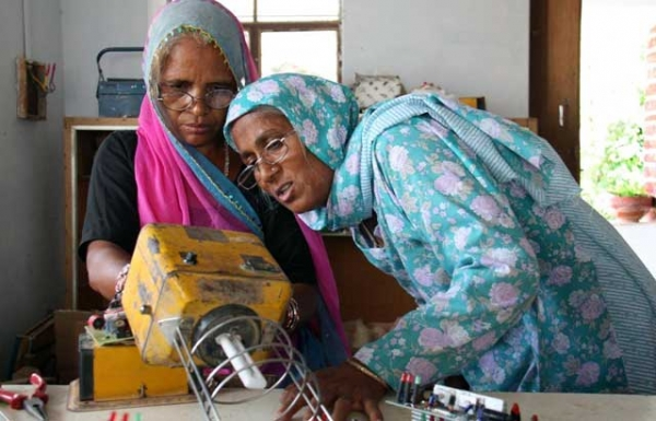"In ""Grandmother Power,"" photographer Paola Gianturco turns her lens on women training to become solar engineers at Barefoot College in Tilonia, Rajasthan, India. (Paola Gianturco)"