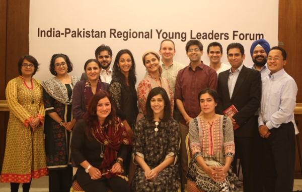 Attendees of the India-Pakistan Regional Young Leaders Initiative forum in Islamabad last month.