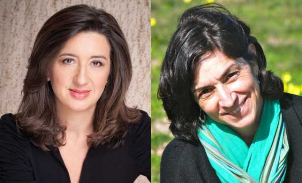 "Anita Amirrezvani (L) and Persis Karim (R), co-editors of ""Tremors: New Fiction by Iranian American Writers."" (Anita Amirrezvani: Rex Bonomelli.)"