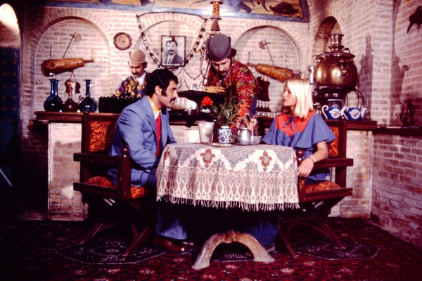 A tea-house in 1970s Tehran.