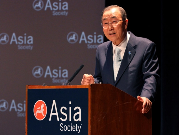 United Nations Secretary-General Ban Ki-moon speaks at the Asia Society in New York on Friday, June 20, 2014. (Ellen Wallop/Asia Society)