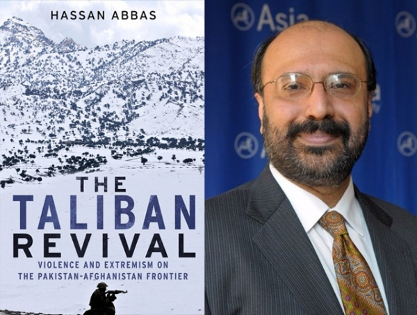 """The Taliban Revival"" (Yale University Press, 2014) by Asia Society Senior Advisor Hassan Abbas (R)."
