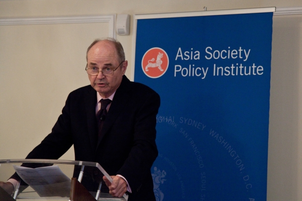 Amb. James Dobbins, U.S. Special Representative for Afghanistan and Pakistan, speaks at the Asia Society Policy Institute in Washington, D.C. on July 9, 2014. (Christina Dinh/Asia Society)