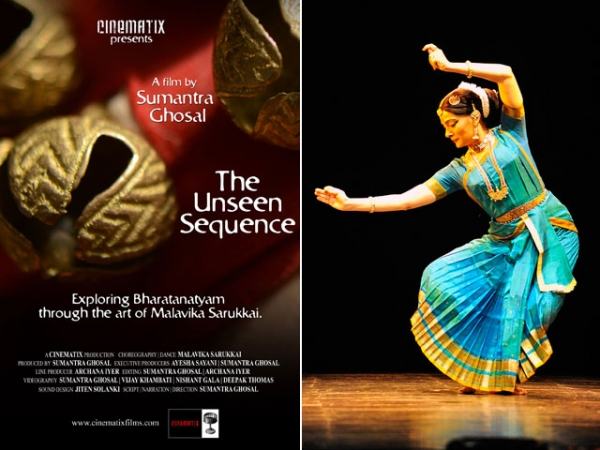 """The Unseen Sequence,"" screening at Asia Society New York on Sept. 21, is director Sumantra Ghosal's documentary portrait of dancer/choreographer Malavika Sarukkai (R)."