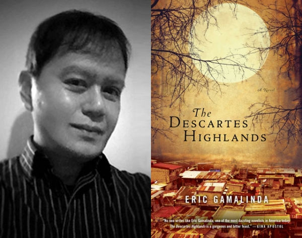 "Eric Gamalinda (L), author of ""The Descartes Highlands"" (Akashic Books, 2014)."