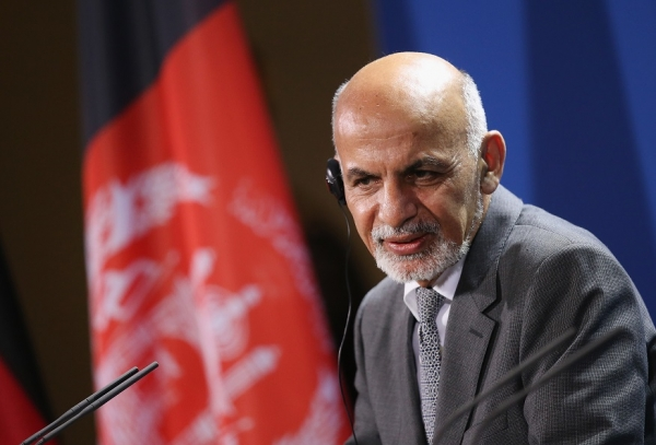 Afghan President Ashraf Ghani speaks to the media following talks at the Chancellery on December 5, 2014 in Berlin, Germany. (Sean Gallup/Getty Images)