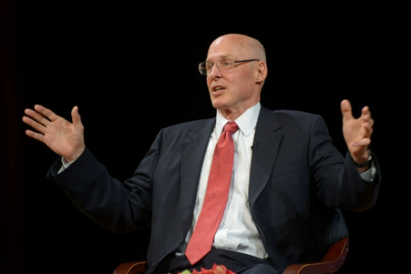 Henry Paulson speaks at Asia Society New York on Sept. 11, 2014. (Elsa Ruiz)