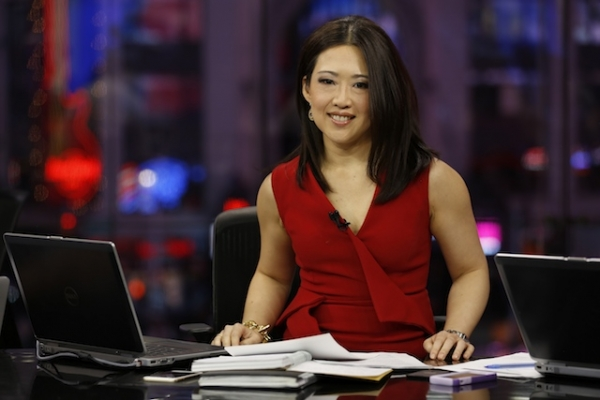 Anchor Melissa Lee on the set of CNBC's Fast Money. (CNBC)