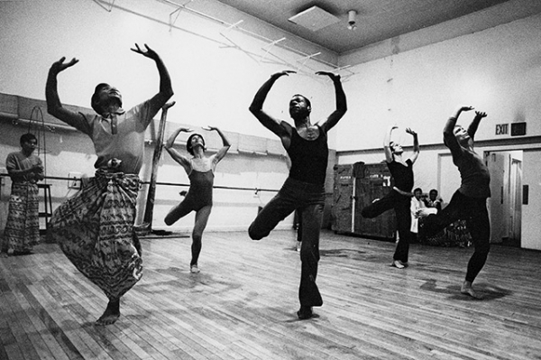 Dancers from the Burmese National Theater collaborate with American dancers at the Martha Graham Studio in New York during a historic U.S. visit in 1975. (Dan Sterbling)
