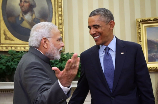 U.S. President Barack Obama (R) meets with Indian Prime Minister Narendra Modi (L) in the Oval Office of the White House September 30, 2014 in Washington, DC. (Alex Wong/Getty Images)
