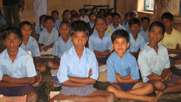 A classroom in India