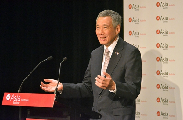 Singapore Prime Minister Lee Hsien Loong speaking at Asia Society in Sydney, Australia, on October 12, 2012. (Asia Society)