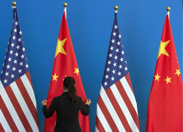 Panelists at the Asia Rising event say that mutual development and destruction are a reason the U.S. and China will avoid conflict. (Ng Han Guan/AFP/Getty Images)
