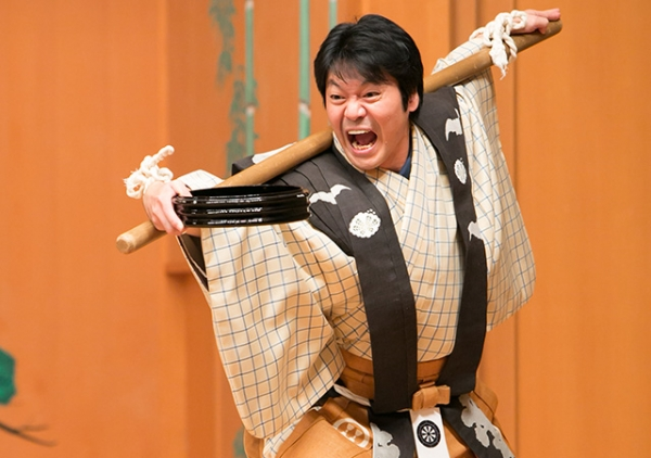Kyogen master Nomura Manzo IX performs his craft which he learned from his father and grandfather.