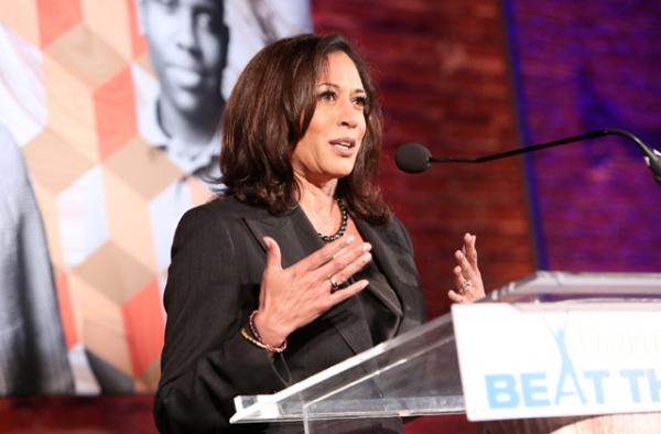 California Attorney General Kamala Harris was elected to the U.S. Senate on Tuesday night, becoming one of three Asian Americans to serve on the body. (Jesse Grant/Getty Images for Children's Defense Fund)