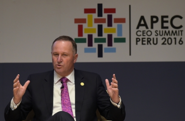 New Zealand Prime Minister John Key announced his resignation on Monday after eight years in office. (Rodrigo Buendia/AFP/Getty Images)