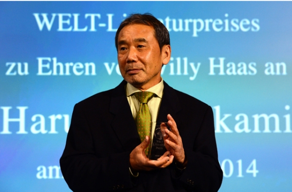 The author Haruki Murakami uses cooking, food, and restaurants as major plot devices in his stories. (John MacDougall/AFP/Getty Images)