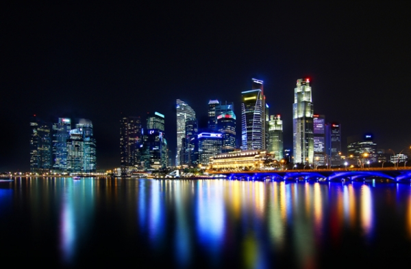 Singapore Skyline (Wikimedia Commons)