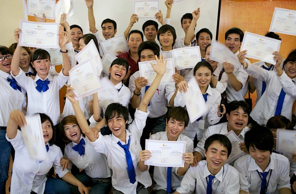 Students of REACH in Vietnam. (Pham Thi Thanh Tam)