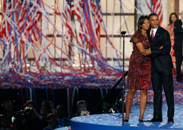 Wearing a dress by Thai-American designer Thakoon Panichgul at the Democratic National Convention in Denver, Colorado on August 28, 2008. (Mark Wilson/Getty Images)