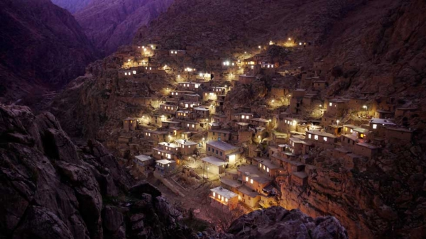 "Iran's Palangan village, in the mountainous borderlands near Iraq. This photo was selected as an ""editor's choice"" in the National Geographic Photo Contest. (Amos Chapple)"