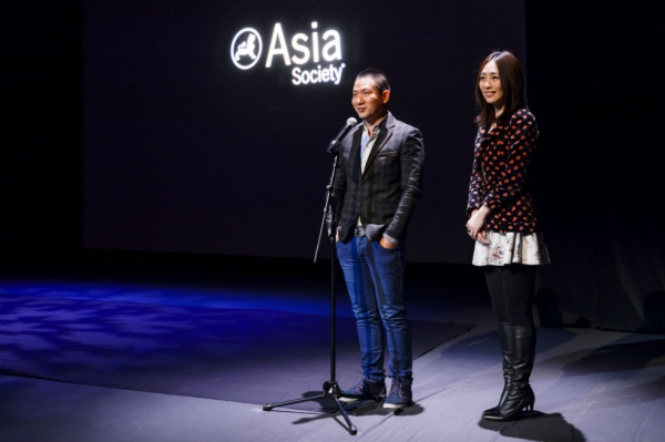 Film director Midi Z and actress Wu Ke-Xi attend the opening of the film series Homecoming Myanmar: A Midi Z Retrospective at Asia Society New York on March 6, 2015. (C. Bay Milin)